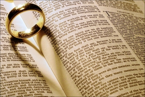 wedding ring heart Bible